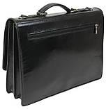 Мужской портфель из натуральной кожи TOMSKOR Черный (81573), фото 3
