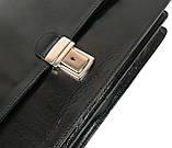 Мужской портфель из натуральной кожи TOMSKOR Черный (81573), фото 4
