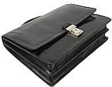 Мужской портфель из натуральной кожи TOMSKOR Черный (81573), фото 5