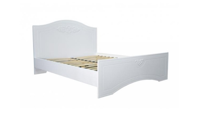 Кровать Неман Анжелика Белый супермат с газовыми подьемниками и металлическим каркасом 1400х2000