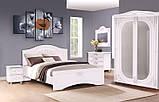 Кровать Неман Анжелика Белый супермат с газовыми подьемниками и металлическим каркасом 1400х2000, фото 5