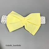 Комплект туника, блумер, повязка для девочки Жёлтый Ситец Murat baby Турция 68 (р), фото 4