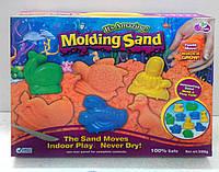 Кинетический песок 500г. (один цвет, +формочки, +стеки). Разные цвета!, фото 1