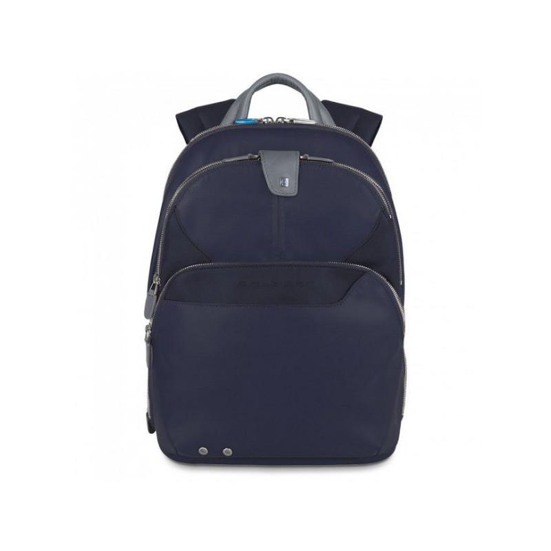 Італійський чоловічий рюкзак з чохлом і накидкою шкіра 27*36*14,5 див. синій 2201510