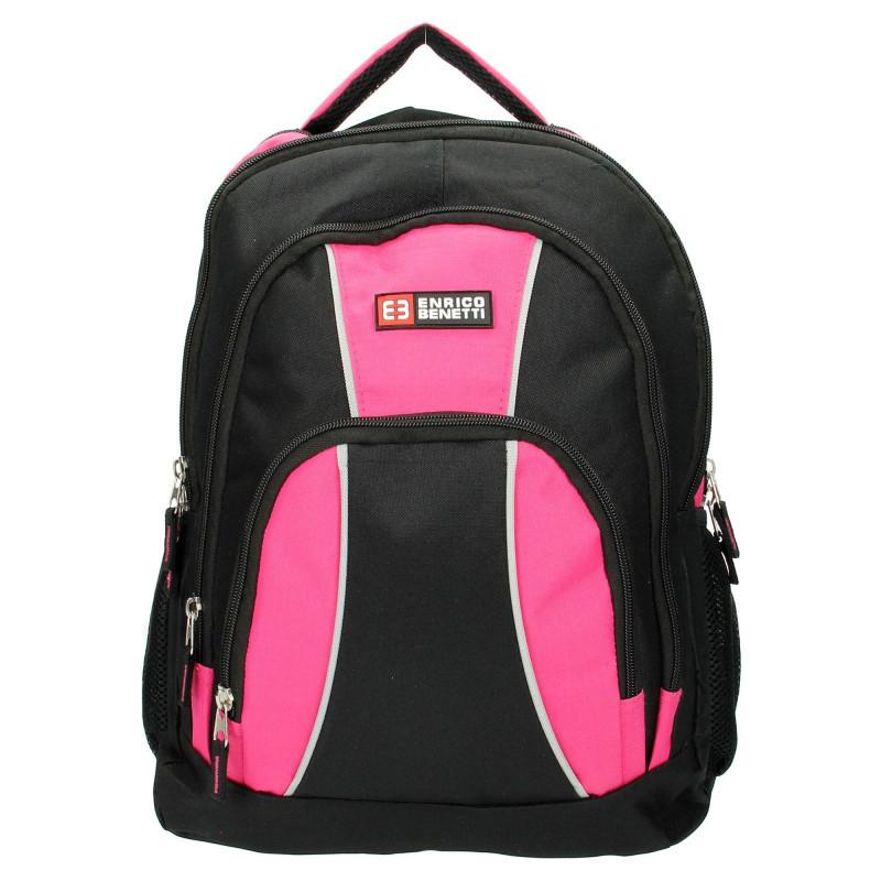 Женский рюкзак Голландия 26*37*15 см. черно-розовый 2201515
