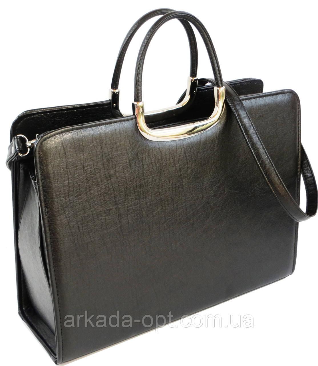 Деловой портфель женский из искусственной кожи Arwena Черный (Td008a1)