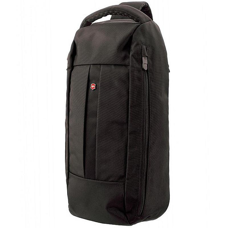 Мужской рюкзак с одним плечевым ремнем Швейцария 23*44*12 см. черный 2201523