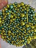 """Мікс """"Бірюза з золотом"""" 50 грам, фото 3"""