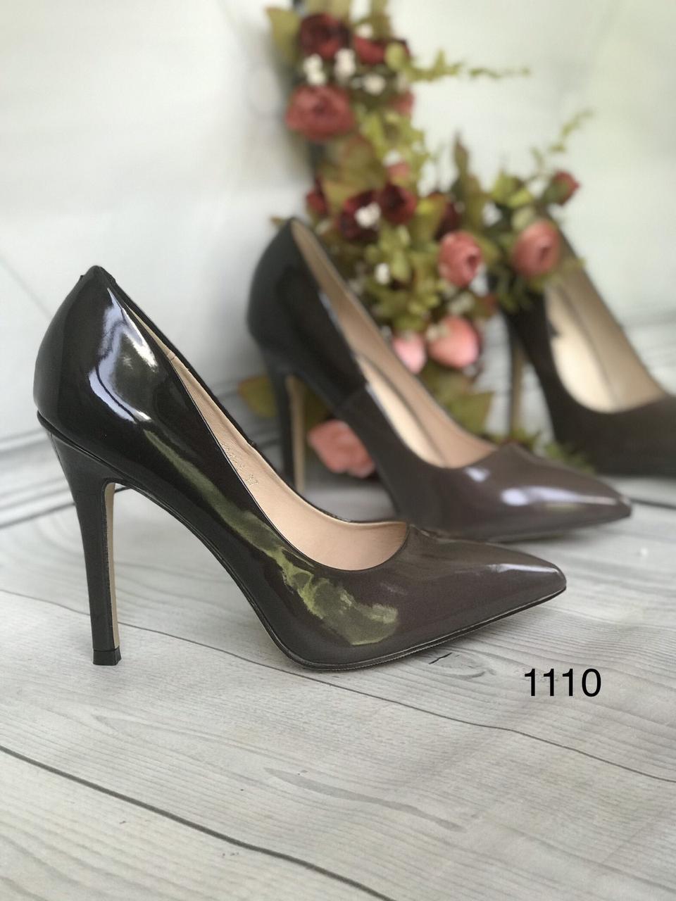 Туфлі жіночі класичні подвійні,коричневі