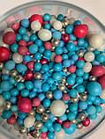 """Мікс """"Блакитно-рожевий з сріблом"""" 50 грам, фото 2"""