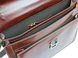 Портфель из натуральной кожи TOMSKOR Коричневый (81577), фото 7