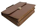 Портфель из искусственной кожи Cavaldi Коричневый (B020139S BROWN), фото 7