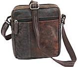Мужская кожаная сумка Always Wild Коричневый (243-DIS Brown), фото 4