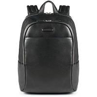 Мужской черный кожаный рюкзак Италия 30*40*14 см. 2201638