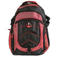 Рюкзак для ноутбука женский Голландия 31*48*23 см. черно-красный 2201664