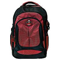 Рюкзак с отделением для ноутбука мужской Голландия 33*48*25 см. черно-красный 2201665