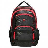Мужской рюкзак для ноутбука Голландия 32*46*24 см. черно-красный 2201666