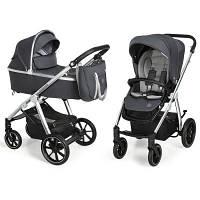 Коляска Baby Design 2 в 1 Bueno 217 Graphite (без вышивки) (203824)