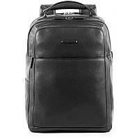 Кожаный мужской рюкзак Италия 32,5*42*18 см. черный 2201727