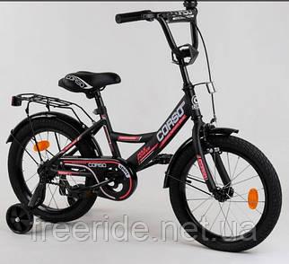 """Дитячий велосипед CORSO CL-16"""" чорно-червоний"""