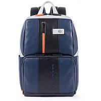 Мужской рюкзак кожаный Италия 29*39,5*15 см. серый 2201754