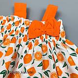 Комплект туника, блумер, повязка для девочки Оранжевый Ситец Murat baby Турция 68 (р), фото 2
