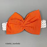 Комплект туника, блумер, повязка для девочки Оранжевый Ситец Murat baby Турция 68 (р), фото 3