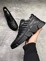 Calvin Klein (Кельвин кляйн) мужские кожаные кеды из натуральной кожи (кроссовки,туфли) кожаная обувь
