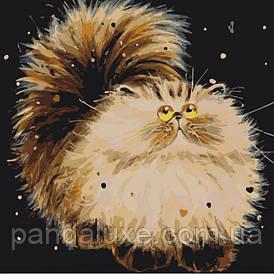 """Картина для рисования по номерам. Животные,  птицы """"Маленький пушистик"""" KHO4036, 40х40 см"""