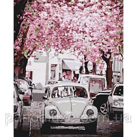 """Картина для рисования по номерам. Городской пейзаж """"Volkswagen Beetle"""" KHO3521, 40х50 см"""