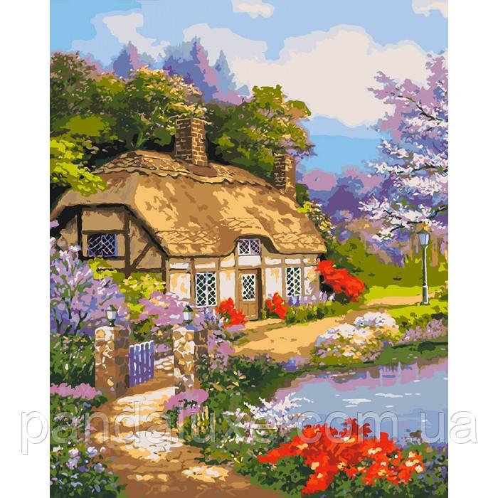 """Картина для рисования по номерам. """"Загородный дом"""" 40х50 см"""