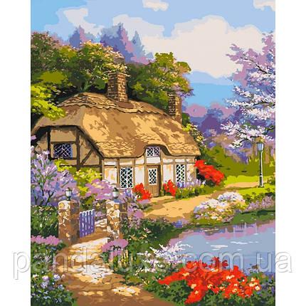 """Картина для рисования по номерам. """"Загородный дом"""" 40х50 см, фото 2"""