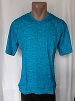 Мужская футболка 48 размер Бирюзовый снежок