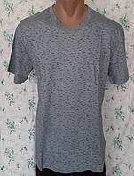 Мужская футболка 48 размер Светло-серый штрих