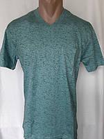 Мужская футболка 50 размер Изумрудный снежок