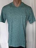 Чоловіча футболка 50 розмір Смарагдовий сніжок, фото 3