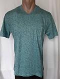 Чоловіча футболка 50 розмір Смарагдовий сніжок, фото 4