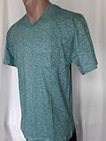 Чоловіча футболка 50 розмір Смарагдовий сніжок, фото 6