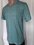 Чоловіча футболка 50 розмір Смарагдовий сніжок, фото 7