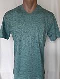 Чоловіча футболка 50 розмір Смарагдовий сніжок, фото 8