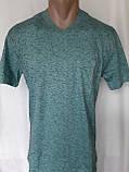 Чоловіча футболка 50 розмір Смарагдовий сніжок, фото 9