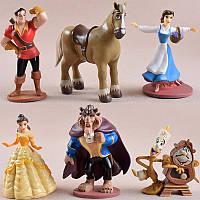 Ігрові фігурки з мультфільму Красуня і Чудовисько. Набір фігурок Красуня і Чудовисько 6 шт. Disney іграшки