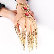 Слейв браслет. Індійський весільний браслет. Індійські прикраси. Прикраса у східному стилі на руку. Квіти