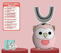 Ультразвуковая детская зубная щетка 360. Зубная щетка капа для детей 6-14 лет. Умная зубная щетка с