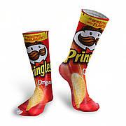 Чоловічі шкарпетки з принтом чіпсів Принглс. Pringles Socks. Шкарпетки Pringles. Шкарпетки з принтом Pringles