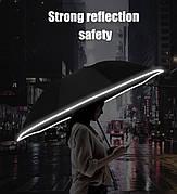 Зонт Xiaomi зворотного складання з вбудованим ліхтарем. Зонт Xiaomi RunMi Fully Automatic Rreverse Black