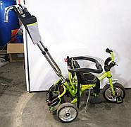 Б/У Велосипед триколісний з батьківською ручкою Turbo Trike зелений, без захисного тенту