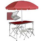 Раскладной туристический стол для пикника со стульями в чемодане складной стол и 4 стула Easy Camp