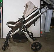 Б/У Коляска трансформер Chicco Urban. Прогулочная коляска Chicco 2 в 1 коричневого цвета