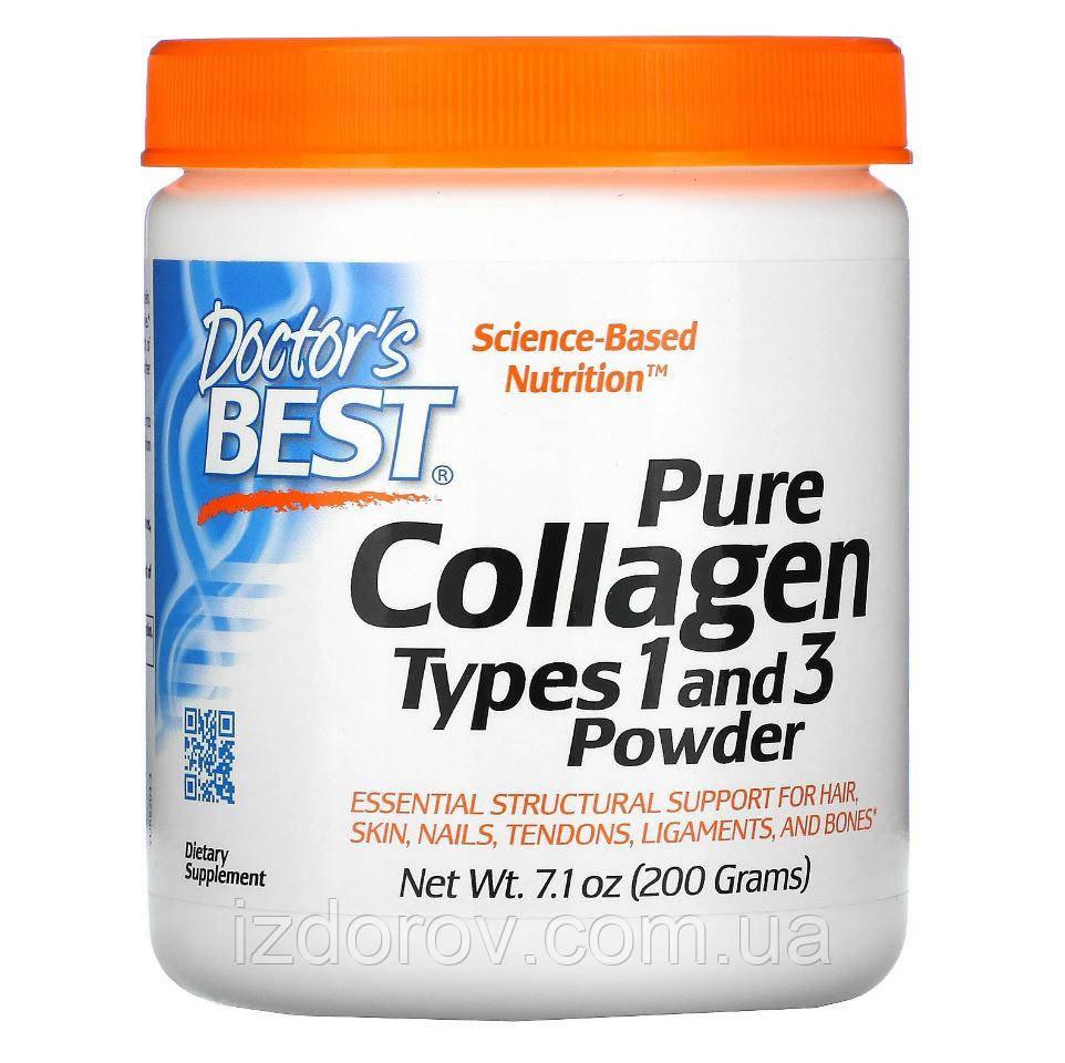 Doctor's s Best, Чистий Колаген типів 1 і 3 в порошку, Pure Collagen, 200 г